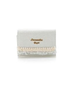 デニムパール折財布