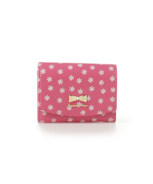 フラワープリント折財布