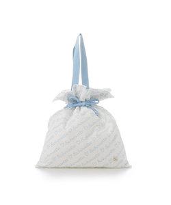 ロゴプリント巾着バッグ