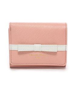 ★ライン入りシンプルリボン小物(三つ折り財布)