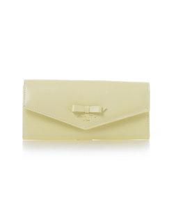 リボンデザイン かぶせ長財布