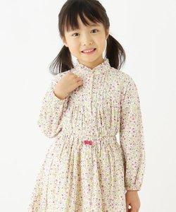 【100-140cm】小花柄シャツ
