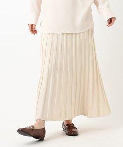 ニットプリーツフレアスカート