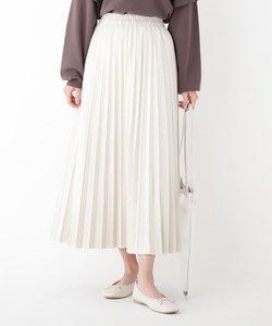 エコスウェード プリーツスカート【WEB限定サイズ】