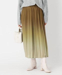 グラデーションプリント プリーツフレアスカート