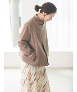 Lux-Veil wool mix 2way フードショートコート