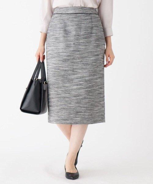 CARREMANツイードタイトスカート