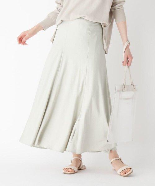 ヴィンテージサテン マーメイドフレアスカート【WEB限定サイズ】