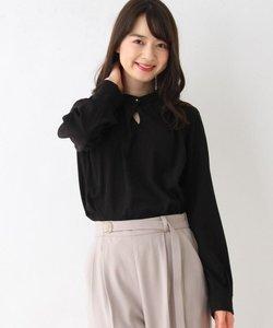 【My style is...掲載】【洗える・42(LL)WEB限定サイズ】スタンドカラーボタンブラウス