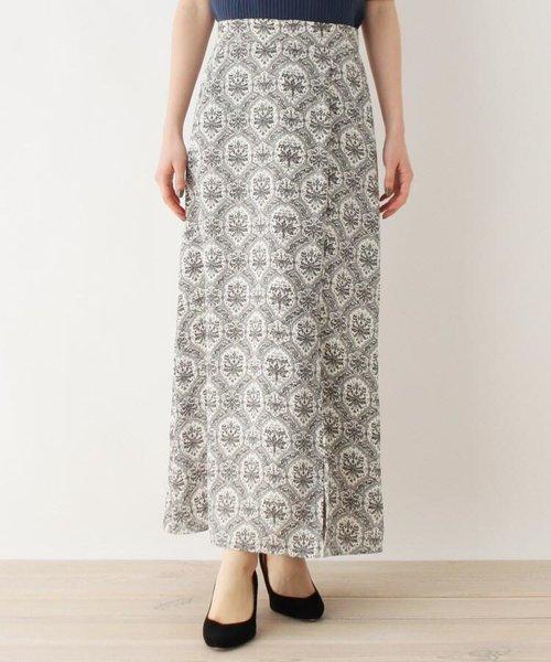 ミュルーズ染織美術館アーカイブ ヴィンテージペイズリーパターン サテンロングスカート