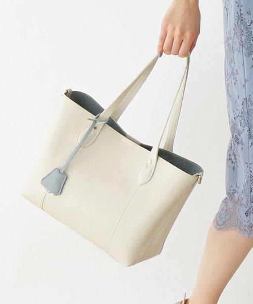 【VERY10月号掲載】【My style is...掲載】10ポケットレザー調バイカラーミドルトートバッグ
