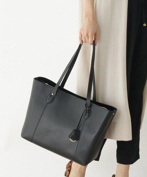 【 andGIRL10月号掲載】【My style is...掲載】10ポケットレザー調バイカラーA4サイズトートバッグ