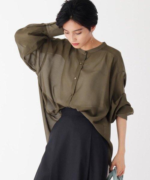 【WEB限定サイズ】ライトシアー オーバーサイズシャツ バンドカラー