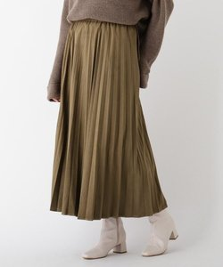 エコスウェードプリーツスカート【WEB限定サイズ】