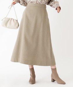 ウールフレアミモレスカート
