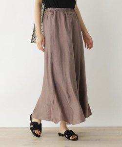 サテンパターンフレアスカート