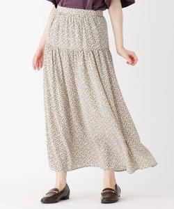 小花柄ギャザーロングスカート
