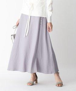 Liサイドボタンフレアスカート