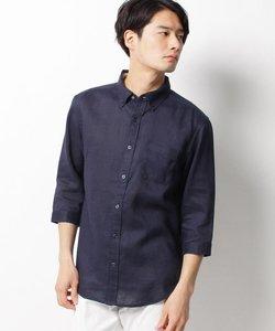 ベルギーリネン七分袖シャツ
