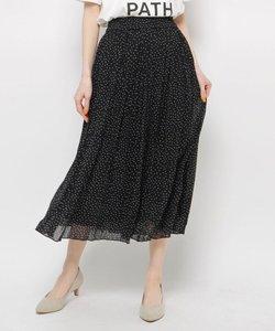 シフォン楊柳ロングスカート