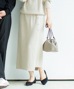 ボタン付きタイトニットスカート【セットアップコーデ可】