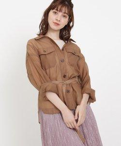 【洗える】シアーCPOデザインシャツジャケット