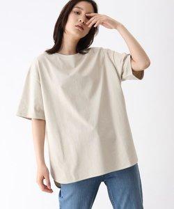 [洗える]GIZA COTTON BIGラウンドヘムTシャツ