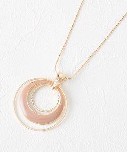 エポ月の輪リングネックレス