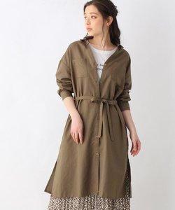 【M-L/2点セット】シャツワンピ+半袖Tシャツ