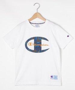 【150-160㎝】ChampionプリントクルーネックTシャツ