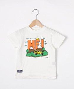 【110-130cm】MEI×cleofus プリントクルーネックTシャツ