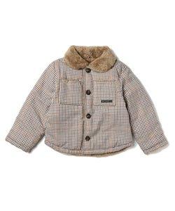 【90-130cm】リバーシブルボアジャケット
