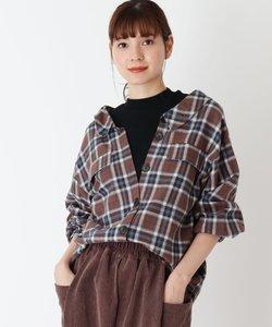 【S-L】フェイクレイヤードコーデュロイシャツ