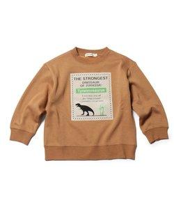 【90-130cm】裏シャギーロゴフロッキー恐竜トレーナー