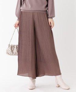 ジョーゼットプリーツスカートパンツ【WEB限定サイズ】