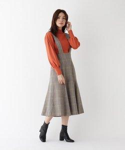 カラーライングレンチェックジャンパースカート【WEB限定サイズ】