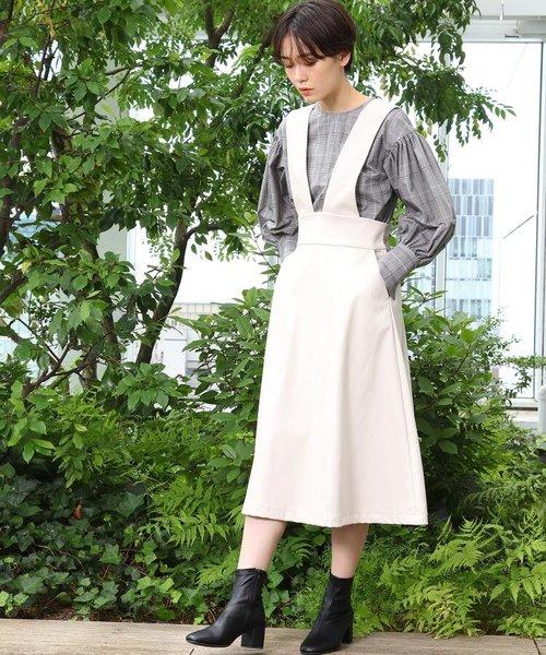 エコレザーAラインジャンパースカート