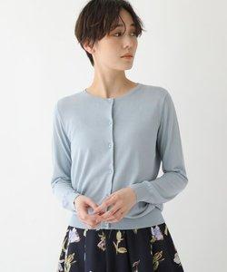【洗える/接触冷感/UVカット/美人百花5月号掲載】クルーネックカーディガン