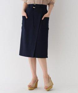 ベルテッドラップ風スカート【Lサイズあり】