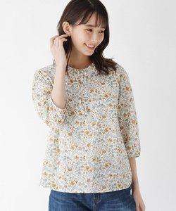 【ハンドウォッシュ】フリルカラーフラワーシャツ