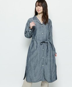 【ハンドウォッシュ】リネン混ロングシャツ