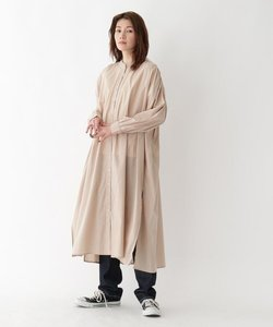 ギャザーシャツワンピース【WEB限定】
