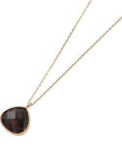 黒蝶貝×クォーツマロン形 ネックレス
