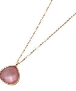 ピンク蝶貝×クォーツマロン形 ネックレス