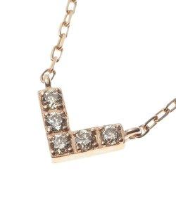 レクタングルダイヤモンドV字 ネックレス