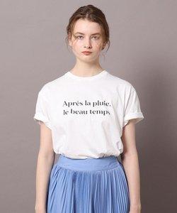 ロゴ&フォトプリントTシャツ