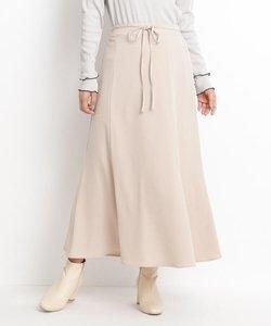 【S-LL】サテン細ベルト付ナロースカート