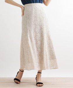 ボタニカル柄ソフトマーメイドスカート
