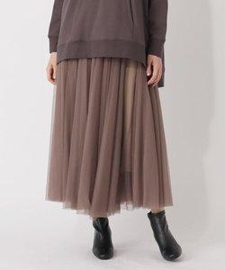 【S-LL】チュールボリュームフレアスカート