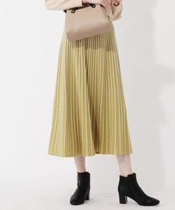 【S-LL】配色ラインタックニットスカート